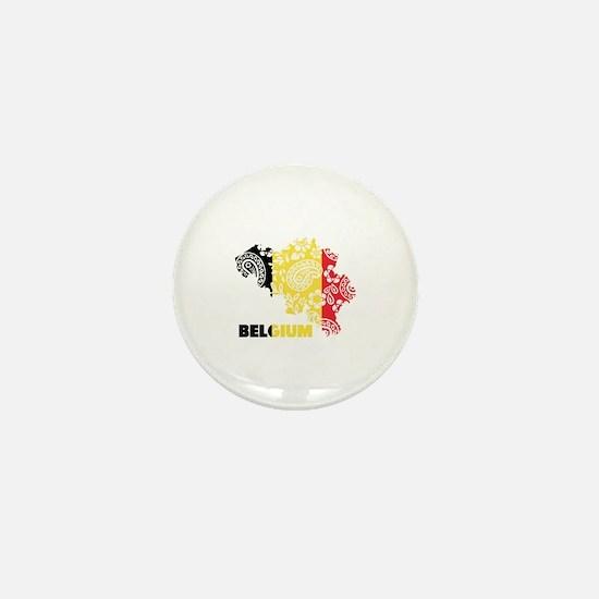 Belgium Paisley Mini Button