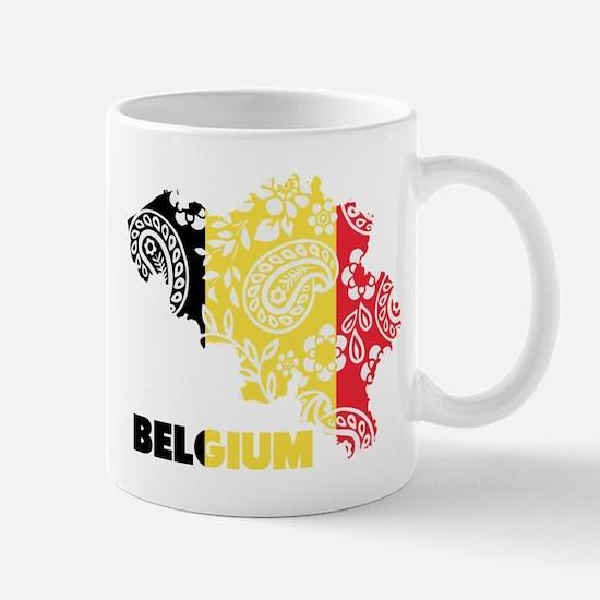 Belgium Paisley Mug