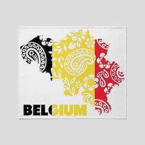 Belgium Paisley Throw Blanket