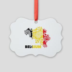 Belgium Paisley Picture Ornament