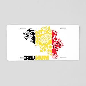 Belgium Paisley Aluminum License Plate