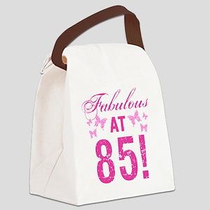 Fabulous 85th Birthday Canvas Lunch Bag
