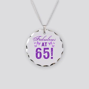 Fabulous 65th Birthday Necklace Circle Charm