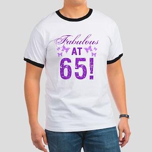 Fabulous 65th Birthday Ringer T