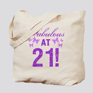 Fabulous 21st Birthday Tote Bag