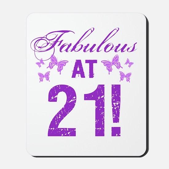 Fabulous 21st Birthday Mousepad