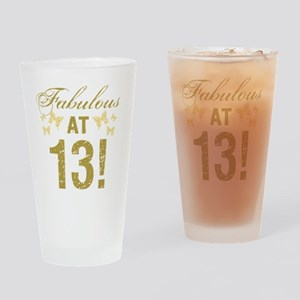 Fabulous 13th Birthday Drinking Glass
