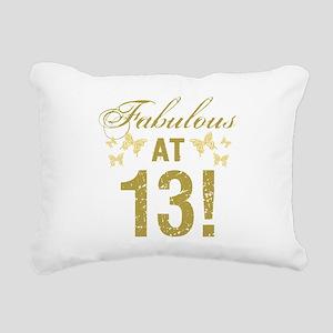 Fabulous 13th Birthday Rectangular Canvas Pillow