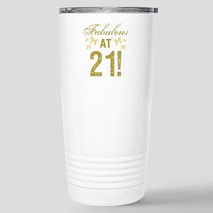 Fabulous 21st Birthday Stainless Steel Travel Mug
