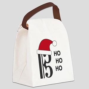 Clef Santa Canvas Lunch Bag