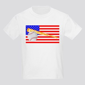 Baseball and Bat Flag T-Shirt