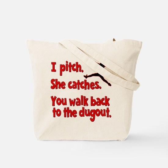 I PITCH (both sides) Tote Bag