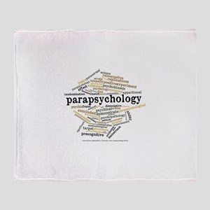 Parapsychology Wordle Throw Blanket