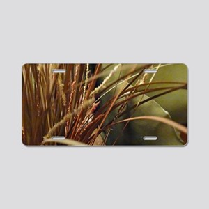 Wild Lily Grass Aluminum License Plate