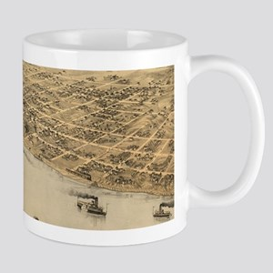 Vintage Pictorial Map of Jefferson City MO (1 Mugs