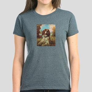 Vintage Brittany Spaniel Women's Dark T-Shirt