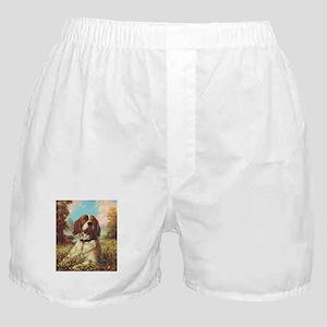 Vintage Brittany Spaniel Boxer Shorts
