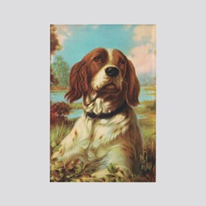 Vintage Brittany Spaniel Rectangle Magnet