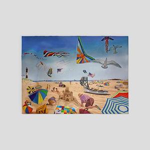 Robert Moses Beach 5'x7'Area Rug