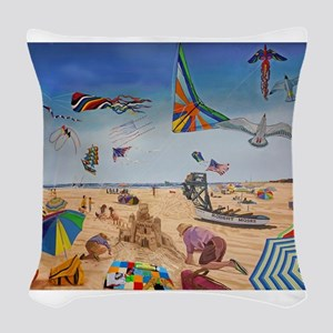 Robert Moses Beach Woven Throw Pillow