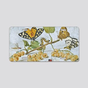 Insects Crawling Aluminum License Plate