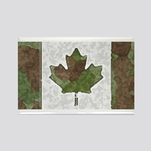 Canadian Flag Camo Green Woodland Magnets
