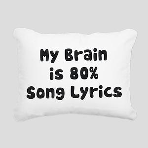 MY BRAIN IS 80% SONG LYRICS Rectangular Canvas Pil