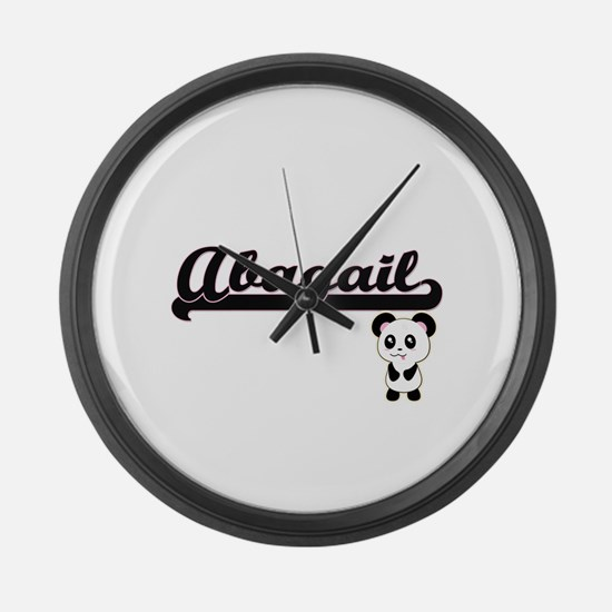 Abagail Classic Retro Name Design Large Wall Clock