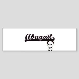 Abagail Classic Retro Name Design w Bumper Sticker