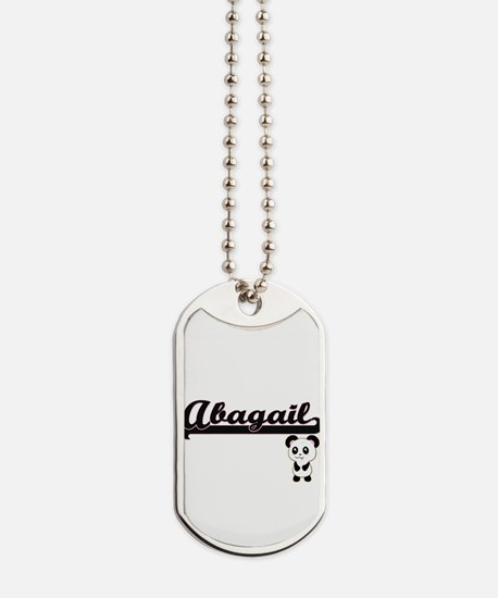 Abagail Classic Retro Name Design with Pa Dog Tags