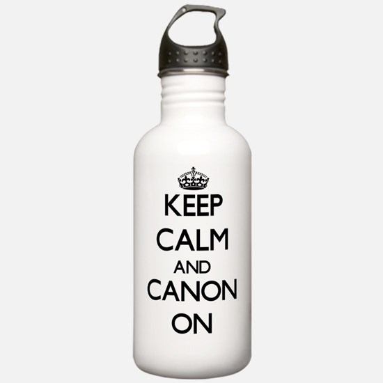 Keep Calm and Canon ON Water Bottle