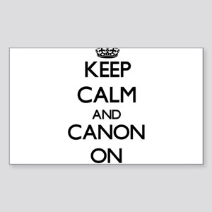Keep Calm and Canon ON Sticker