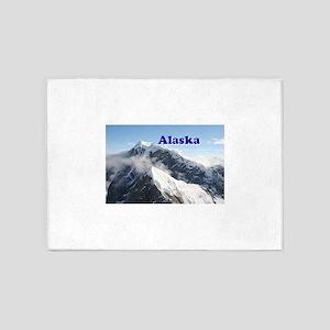 Alaska: Alaska Range, USA 5'x7'Area Rug