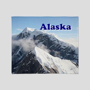Alaska: Alaska Range, USA Throw Blanket