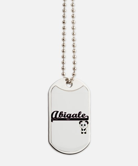 Abigale Classic Retro Name Design with Pa Dog Tags