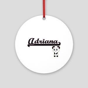 Adriana Classic Retro Name Design Ornament (Round)