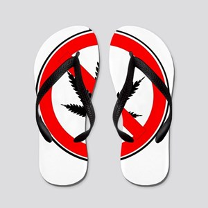 Weed Ban Sign Flip Flops