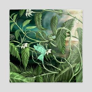 lily leaf dragon Queen Duvet