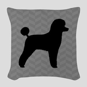 Toy Poodle Silhouette Woven Throw Pillow