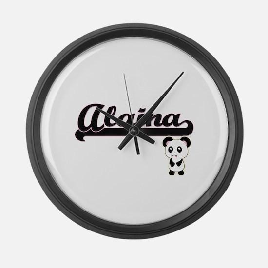 Alaina Classic Retro Name Design Large Wall Clock