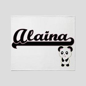 Alaina Classic Retro Name Design wit Throw Blanket