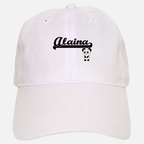 Alaina Classic Retro Name Design with Panda Baseball Baseball Cap