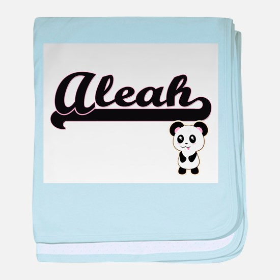 Aleah Classic Retro Name Design with baby blanket