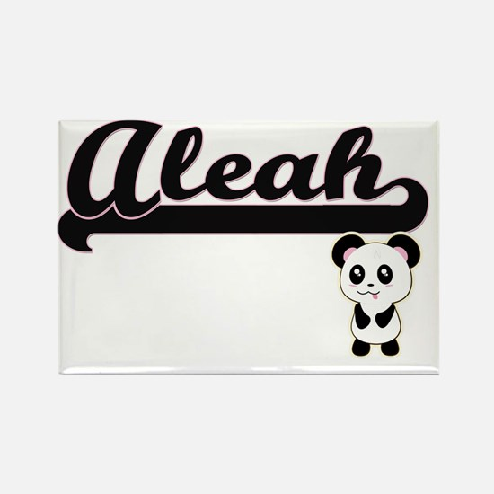 Aleah Classic Retro Name Design with Panda Magnets