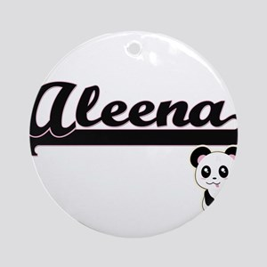 Aleena Classic Retro Name Design Ornament (Round)