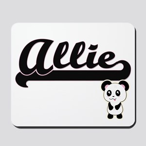 Allie Classic Retro Name Design with Pan Mousepad