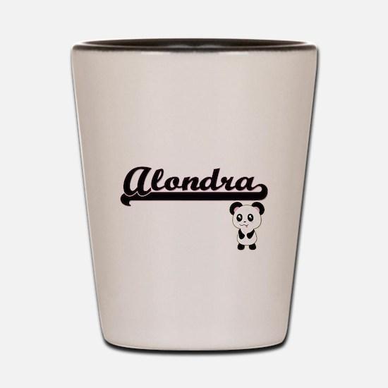 Alondra Classic Retro Name Design with Shot Glass