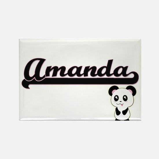 Amanda Classic Retro Name Design with Pand Magnets
