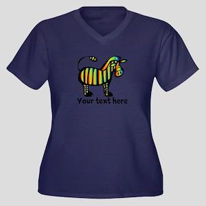 Personalize, Women's Plus Size V-Neck Dark T-Shirt