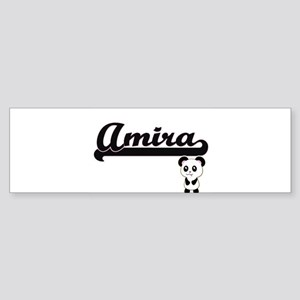 Amira Classic Retro Name Design wit Bumper Sticker